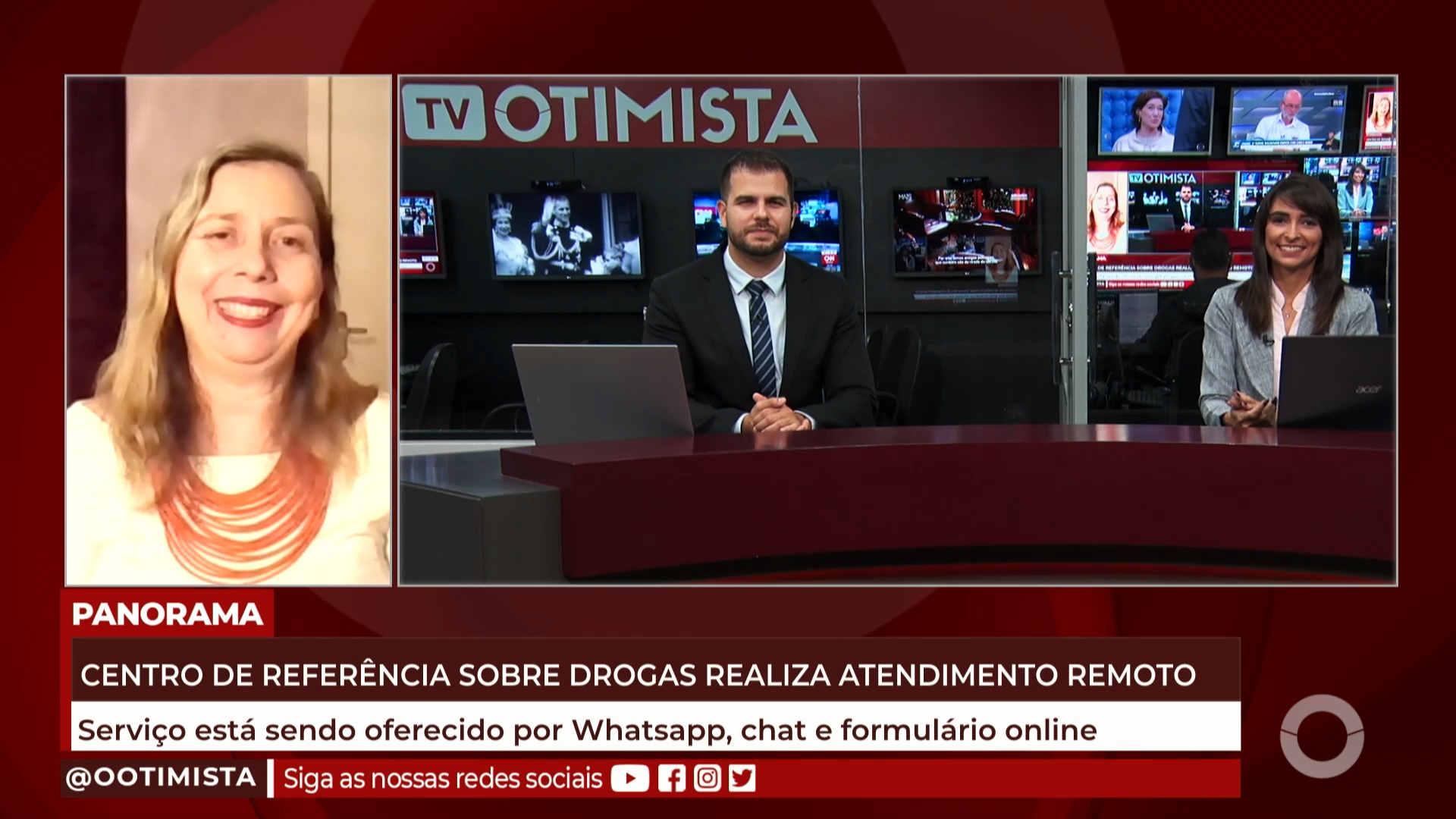 Centro de referencia sobre drogas realiza atendimento remoto