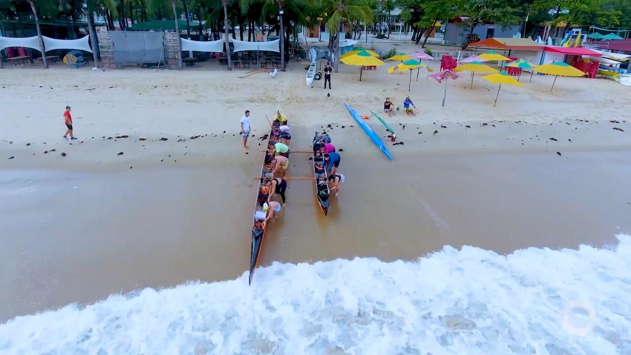 Costume Saudável – Joana Ramalho rema numa canoa havaiana