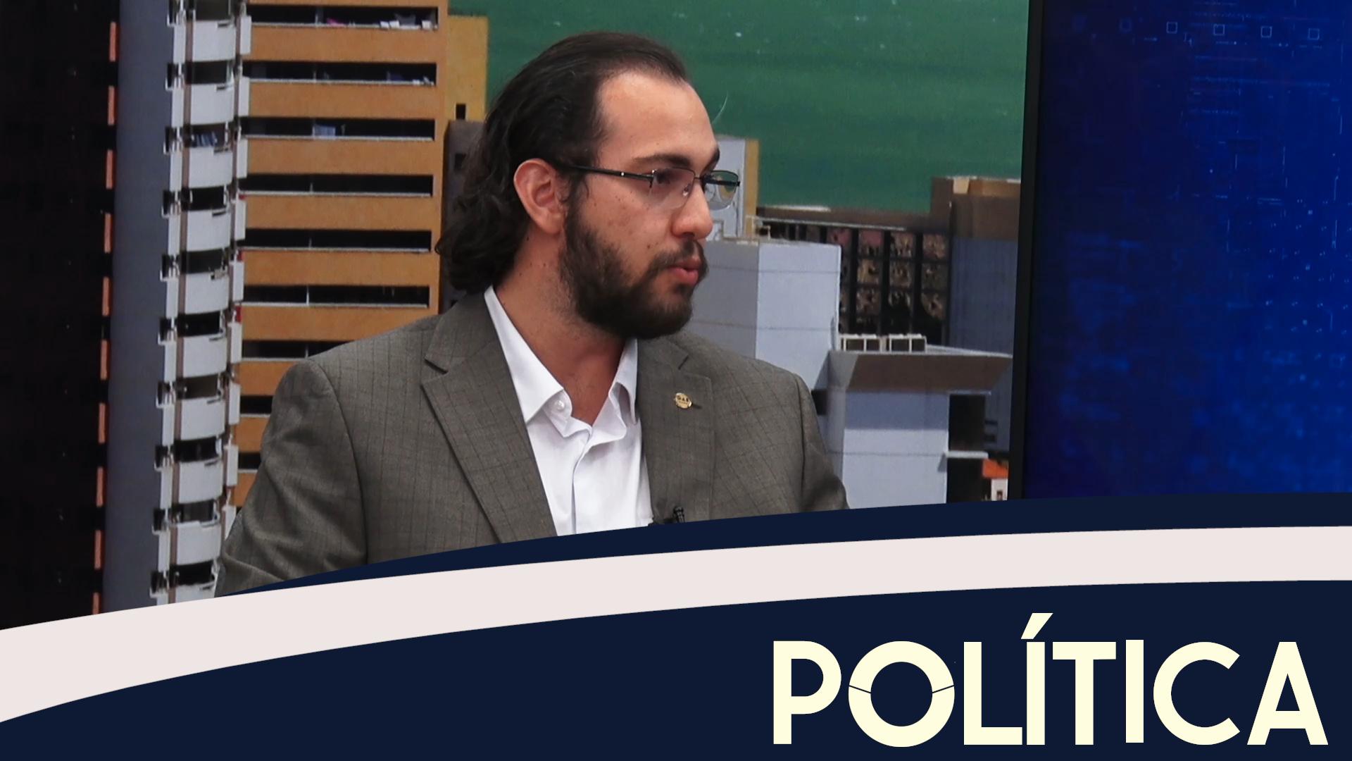 Política entrevista, Isaac Andrade, pres. comissão do estudos politica OAB-CE