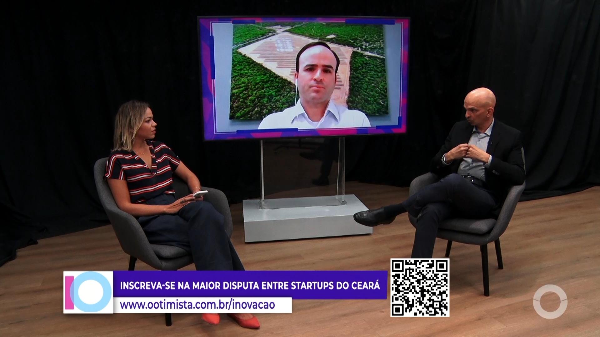 Prêmio Otimista de inovação com Pedro fiúza, CEO da Servtec Energia e Ian Correia Pres. Aço Cearense