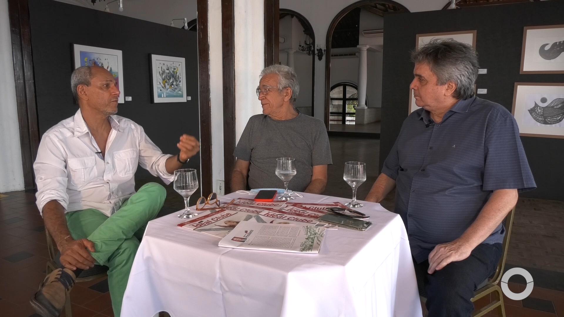 Mosaico entrevista Artista plástico Mano Alencar e o Cartunista Mino Castelo